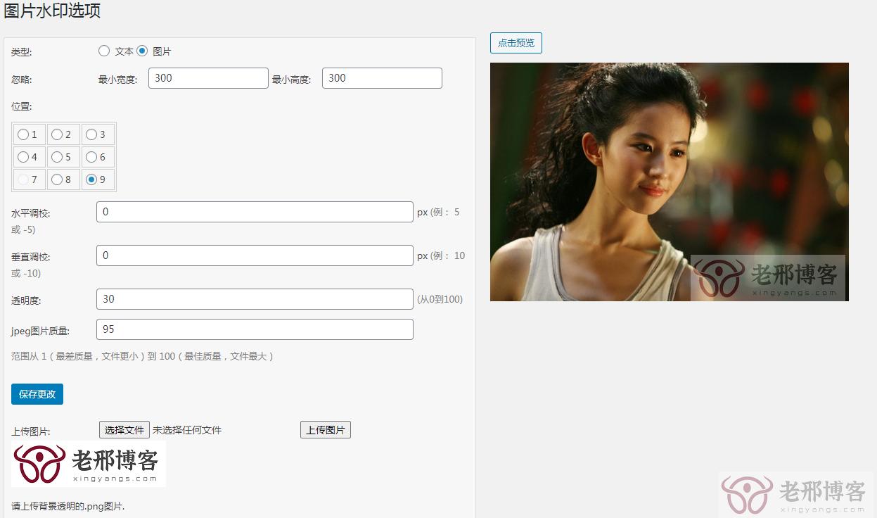 WP插件自动添加图片水印DX-Watermark
